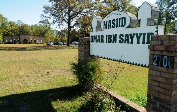 The Masjid Omar Ibn Sayyid mosque located at 2700 Murchison Road. A state historical highway marker honoring Sayyad is scheduled to be unveiled in front of the mosque named for him on Murchison Road. Staff Photo by Marcus Castro